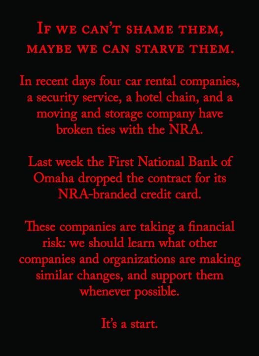 NRA boycott