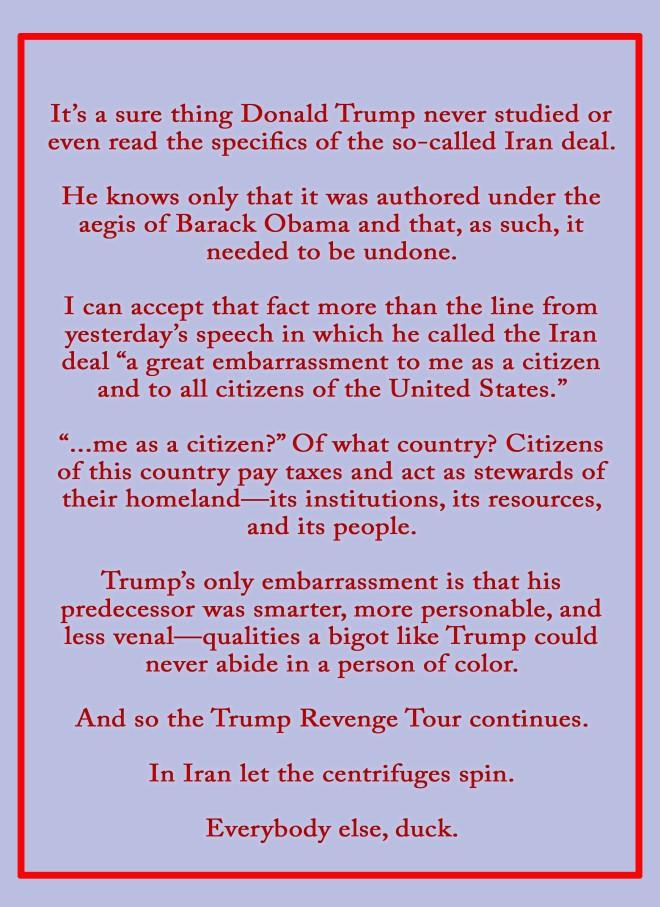 Trump Revenge Tour