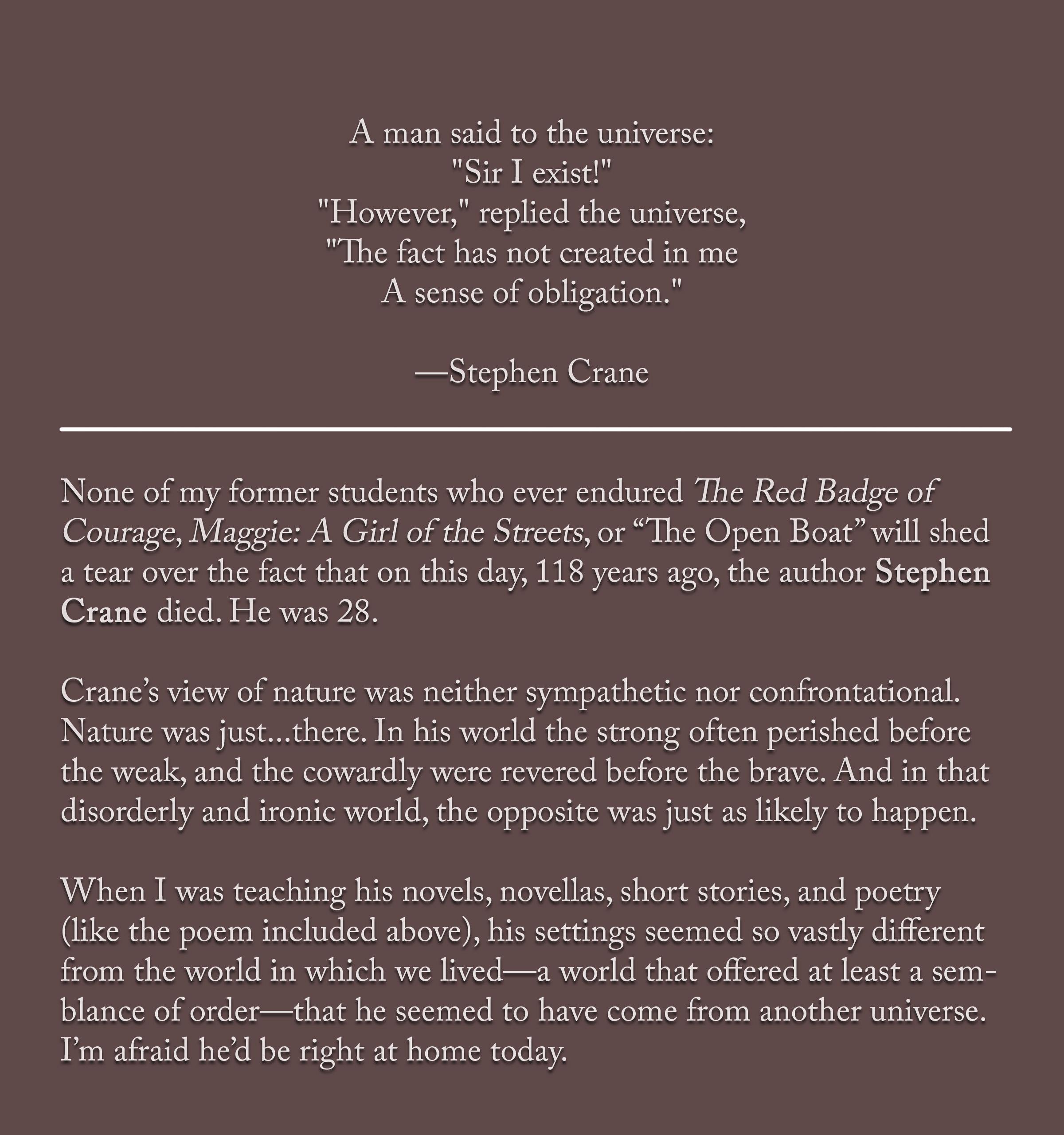 Stephen Crane Poems 5